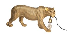 Luipaard lamp goud