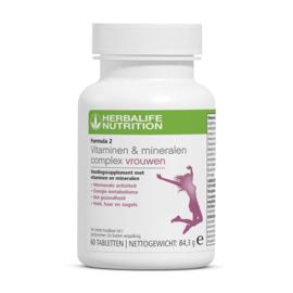 Formula 2 Vitaminen & Mineralen Complex Vrouwen 60 tabletten