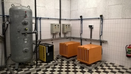Maintenance of compressed air installation of sewage pumping station