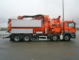 8000m3h dry products suction truck