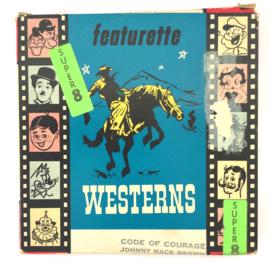 Nr.7030 --Super 8 Silent - Code of Courage western, goede kwaliteit zwartwit Silent ca 60 meter  in orginele doos
