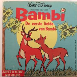 Nr.6686 --Super 8 SOUND-- Bambi, De eerste liefde van Bambie, Walt-Disney 45 meter  kleur Nederlands gesproken, in orginele doos