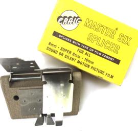 Craig master six splicer mooie Plakpers voor 8mm/Super 8 en 16mm in orginele doos