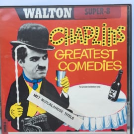 Nr.7169 --super 8 silent-- Charlie Chaplin bij de brandweer, zwartwit ongeveer 60 meter in orginele doos en op spoel