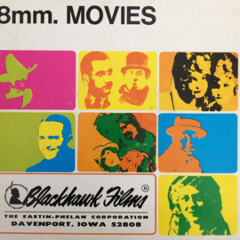 Nr.6578 - Super 8 Silent, Air Pockets, Lige Conley een Blackhawk film, zwartwit silent, speelduur ongeveer 18 minuten (120m.), in orginele fabrieks doos