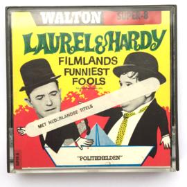 Nr.7215 --Super 8 silent--Laurel en Hardy politie helden, ongeveer 60 meter zwartwit op spoel en in orginele doos