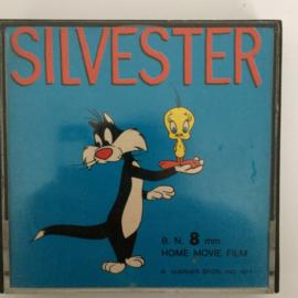 Nr.736 --Super 8 SOUND, Silvester Swallow the Leader, Warner Bros merry Melodies, 60 meter kleur Engels geluid in orginele doos