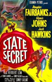 Nr.463 --16mm-- State Secret (1950)Drama / Thriller  met Douglas Fairbanks Jr., Jack Hawkins en Glynis Johns, speelduur 102 minuten, zwartwit, Frans gesproken met Nederlandse ondertitels compleet met begin/end titeld