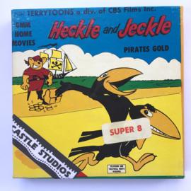 Nr.7067 --Super 8 Silent - Castle film Heckle and Jeckle Pirates Gold, goede kwaliteit zwartwit Silent ca 60 meter  in orginele doos
