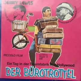 Nr.6904 --Super 8 silent-- Jerry Lewis Ein Tag in der Traumfabrik von Hollywood Der Burotrottel, 120 meter zwartwit zonder geluid in doos