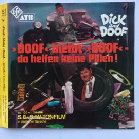 Nr.6631 - Super 8 sound Dick und Doof , da helfen keine Pillen 120 meter geluid zwartwit op spoel en in doos