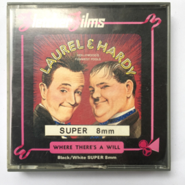 Nr.6997 --Super 8 -- Laurel en Hardy Where There's a Will ongeveer 60 meter zwartwit silent in orginele doos
