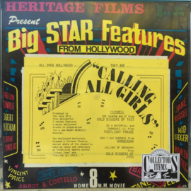 Nr.6911 -- Super 8 sound-- Collectors Item, All over Hollywood They Are..Calling All Girls 120 meter orgineel zwartwit met Engels geluid in orginele doos.