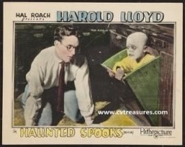Nr.6576 - Super 8 silent Harold Lloyd , Haunted Spooks 1920, zwartwit orgineel Silent 120 meter in orginele doos