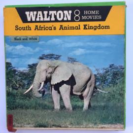 Nr.7156 --super 8 silent-- South Africa Animal Kingdom, zwartwit met Engelse tussentitels ongeveer 60 meter in orginele doos en op spoel