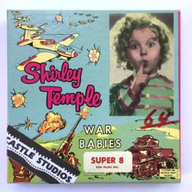 Nr.7051 --Super 8 Silent - Castle film Shirley Temple War Babies, goede kwaliteit zwartwit Silent ca 60 meter  in orginele doos