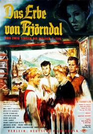 Nr.2107 --16mm-- Winden Waaien om de Rotsen, Das Erbe von Björndal (1960), mooi van kleur, orgineel Duits gesproken met Ned.ondertitels, speelduur 89 minuten, compleet met begin/end titels op spoelen en in doos