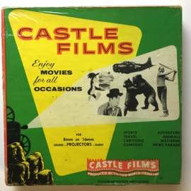 Nr.16336 -- 16 mm -- Aqua Frolics Water Spektakel complete edition, prachtige zwartwit film lengte ongeveer 120 meter orginele Castle film, zwartwit silent, compleet met begin/end titels