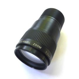 Projectielens 16mm Zoomlens Bell & Howel, zoom 1:1.3/ 30 - 70mm met schroefdraad, Diameter achterkant: 52 mm Lengte: 130 mm