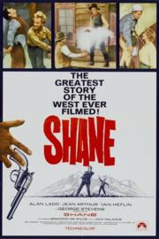 Nr.2143 --16mm--  Shane (1953), Drama / Western, met o.a.  Alan Ladd, Jean Arthur speelduur 118 minuten,  mooie zwartwit copy,  Engels gesproken met Nederlandse ondertitels, compleet met begin/end titels op 2 spoelen en in doos