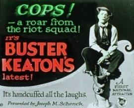 "Nr.6577 - Super 8 silent Buster Keaton ""Cops"" 1922, zwartwit 120 meter orginal silent in orginele doos"