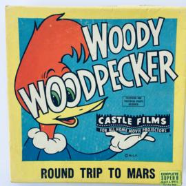 Nr.6915 --Super 8 Sound, Woody Woodpecker Round Trip to Mars, 60 meter  zwartwit silent, in de orginele doos