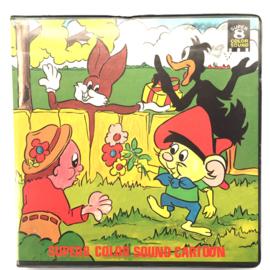 Nr.6662 --Super 8 Sound Warner Bros Loony Tunes Daffy Duck,Porkey  1: Dime to Rettire, 2: Dog Gone People, 120 meter kleur met Engels geluid in orginele  doos