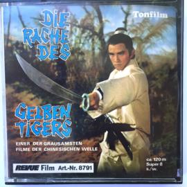Nr.7001 --Super 8 sound -- Die Rache Des Gelben Tigers ca 120 meter zwartwitmet Duits geluid, mooie kopie in orginele doos