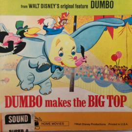 Nr.6688 --Super 8 SOUND-- Dumbo makes the Big Top,  Walt Disney ongeveer 45 meter, kleur met geluid in orgineel doosje