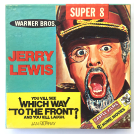 Nr.7055 --Super 8 Silent - Castle film Jerry Lewis You Vill See Which Way To The Front, goede kwaliteit zwartwit Silent ca 60 meter  in orginele doos
