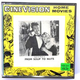 Nr.7261 --Super 8  --Laurel en Hardy From Soup To Nuts, ca 120 meter zwartwit silent, goede  copy in orginele doos