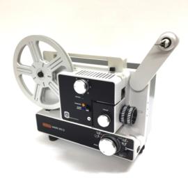 Nr.8306 -- Eumig Mark 610 D  voor dubbel8/standaard 8 en Super 8 mm film, Formaatwissel: auto door schakelaar, Eumig Vario-Eupronet zoomlens f: 1.3 F: 15-30 mm Halogeen Lamp: 100 W, 12 V, heeft onderhouds beurt gehad en is in zeer goede staaat