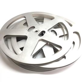 Super 8,  aluminium spoelen voor ruim 600 meter super 8 film prijs is per stuk