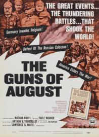 Nr.2110 --16mm--  The Guns of August (1964) Oorlogdocumentaire , mooi zwartwit, speelduur 100 minuten - Engels gesproken compleet met begin/end titels, op 3 spoelen en in doos