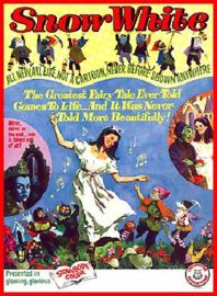 Nr.549 --16mm-- Snow White and the Seven Dwarfs (1955)speelfilm -  speelduur 76 minuten | kleur en in het Nederlands  nagesyngroniseerd , de liedjes zijn wel in het Engels gezongen, compleet met begin/end titels