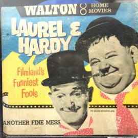 Nr.7274 --Super 8 silent-- Laurel en Hardy Another Fine Mess op 50 meter reel zwartwit op spoel en in orginele doos