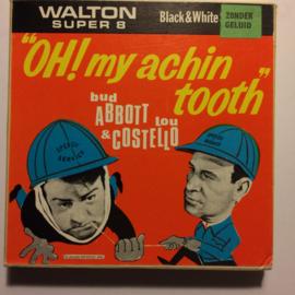 Nr.6804--Super 8-- Oh muy achin tooth (als glazenwassers)Abbott & Costello zwartwit zonder geluid 60 meter in orginele doos
