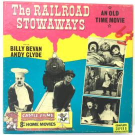 Nr.7057 --Super 8 Silent - Castle film The Raillroad Stwaways, goede kwaliteit zwartwit Silent ca 60 meter  in orginele doos