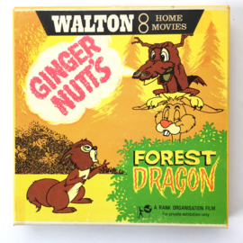 Nr.7280 --Super 8 silent-- Ginger Nutt's Forestr Dragon op 50 meter reelzwartwit op spoel en in orginele doos