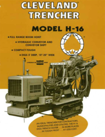 Nr.16348 --16mm-- Cleveland H16 Trencher ,,More Diggin Power,, promotiefilm kleur Engels gesproken speelduur 8 minuten op spoel en in doos