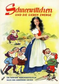 Nr.2170 --16mm-- Snow White and the Seven Dwarfs (1955)speelfilm -  speelduur 76 minuten   kleur en in het Nederlands  nagesyngroniseerd , de liedjes zijn wel in het Engels gezongen, compleet met begin/end titels