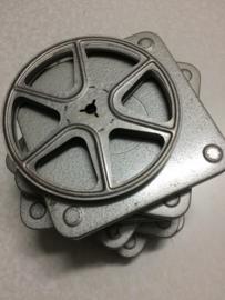 DUBBEL 8  Posso spoelen 60 meter metalen spoel in vierkante metalen doos,doorsnee 12,5 cm