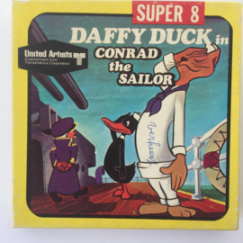 Nr.6972 -- Super 8 silent -- Daffy Duck Conrad the Sailor, ongeveer 60 meter, zwartwit silent , in orginele doos