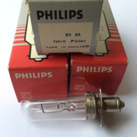 Nr. R161 PHILIPS Exciter lamp 5 volt -  4A. toonlamp met gloeidraad verticaal 7251c PX28S voor o.a. 35mm philips projectoren
