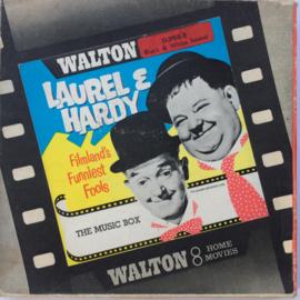 nr.6548 -- Super 8 sound -- The Music Box, Laurel en Hardy, zwartwit Engels gesproken op 120m. spoel en in orginele doos