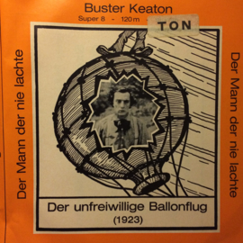 Nr.6622 --Super 8 Sound Buster Keaton in de onvrijwillige ballonvlucht, zwartwit met geluid speelduur 20 minuten in orginele doos