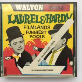 Nr.7173 --Super 8 Silent--Laurel en Hardy als  Schoorsteenvegers, ongeveer 60 meter zwartwit silent op spoel en in orginele doos