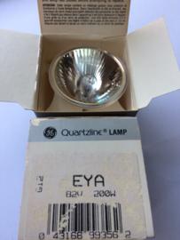 Nr. R148 Quartzline General Electric EYA 82 volt - 200w. halogeen spiegel projectie lamp