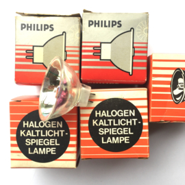 Nr. R216 -- Halogeen projectie lamp met spiegel 8v - 50w doorsnee spiegel 5 cm GZ6,35 voor de meeste super 8 film projectoren