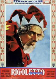 Nr.2104 --16mm-- Rigoletto e La Sua Tragedia  1956, musical/romance, prachtig van kleur, speelduur 91 minuten en Engels gesproken, compleet met begin/end titels op spoelen en in doos